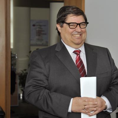 El Rector de la UDC, Julio Abalde
