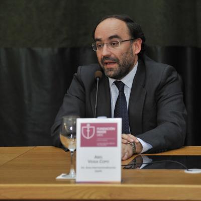 Abel Veiga Copo (IGAPE), durante su intervención