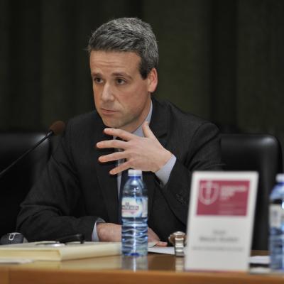 Fernando Peña, director de la Cátedra, explica el programa de actividades