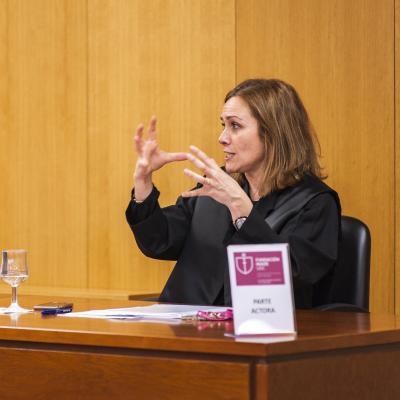 Natalia ÁLvarez Lata (UDC) representó a la parte demandante