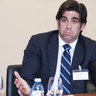 Víctor Lucas Olmedo, Director del Área Laboral de Muñoz Arribas Abogados, durante su intervención