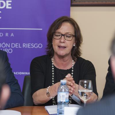 La abogada-Mediadora, Rosa Sánchez-González Dans, durante su intervención