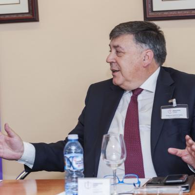 Gregorio Contreras durante su intervención