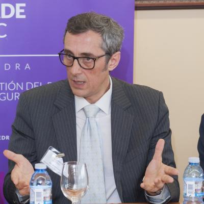 Ricardo Ron Latas, Magistrado de la Sala de lo Social, Tribunal Superior de Xustiza de Galicia, durante su intervención