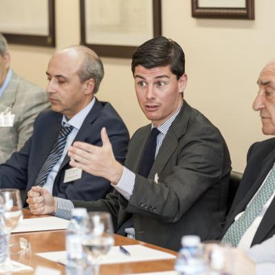 Manuel Contreras durante su exposición