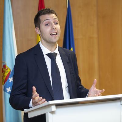 El alumno Jesús Martínez representó a los alumnos en el discurso de agradecimiento