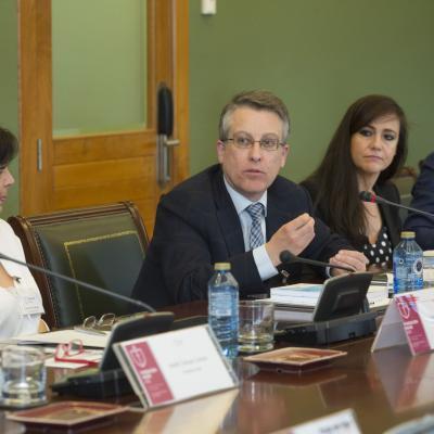 Francisco Infante, Director Territorial de Galicia de AEMET durante su intervención