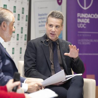 Fernando Peña durante la presentación del tercer cuaderno