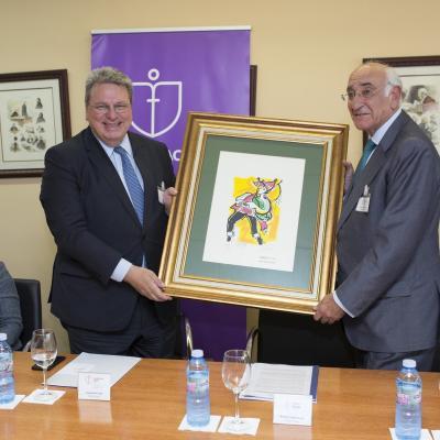 El Presidente de Fundación Inade agradece a Luzzi su presencia en Galicia