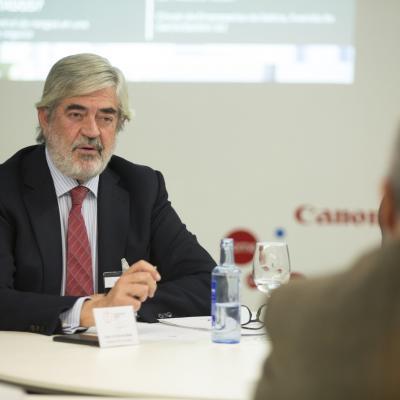 José Luis Sanchez Belda durante su intervención