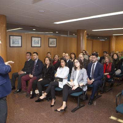 Adolfo Campos dio la bienvenida al acto de graduación