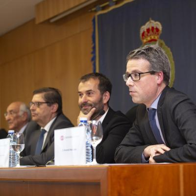El Director del curso, Fernando Peña, durante su intervención
