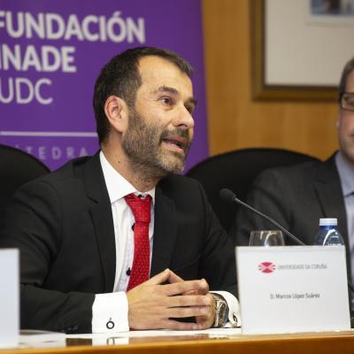 El Vicedecano de Estudantes e Ordenación Académica de la Facultad de Derecho, Marcos López