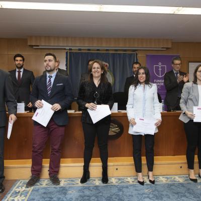 Alumnos Santiago Araújo, Aitor Cartoy, Maite Clemente, Sonia Fraga y Irene González