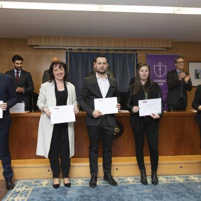 Alumnos Jesús Martínez, Nieves Martínez, Miguel Ángel Ortega,  Bárbara Pérez y Susana Ramos Estrada