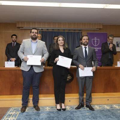 Alumnos Rubén Sánchez, Laura Sánchez y David Sieiro