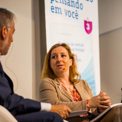 Margarida Lima Rego, durante la presentación